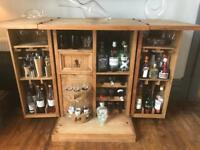 Unique Solid Pine Bar / Drinks Cabinet / sideboard. Excellent condition. Contents not included.