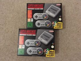 Snes mini classic console brand new
