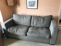 3 seater sage green sofa bed