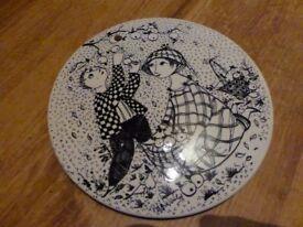 NyMollie October danish collectable wall plate. Bjorn Wiinbald