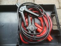 Car jump leads - in neat box for storing