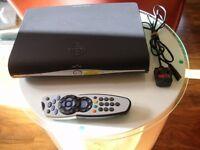 Sky + Box and remote control.