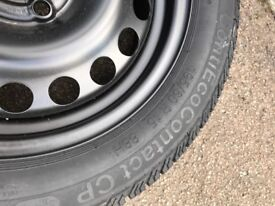 Continental Ecocontact 195 60 16 Tyres X 2 , Pair , Brand New On Vauxhall Rims