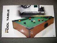 Mini Desktop Pool Table - Boxed & Unused