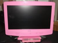 Alba pink TV with DVD player