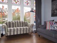 Grey MARKS & SPENCER M&S 3 Seater Sofa On Castors