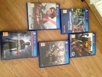 PS4 Uncharted limited edition 1TB with five games