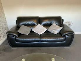 Leather John Lewis suite and chair