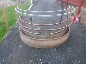 Selection of Round bale ring feeder sheep horse livestock tractor