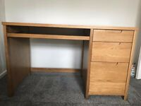 Wooden Desk from Debenhams with Filing Drawer