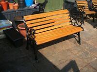 Quality cast Iron Garden Bench with Oak Slats