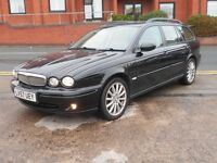 57 JAGUAR X-TYPE 2.2D ESTATE + SAT NAV + TOP SPEC