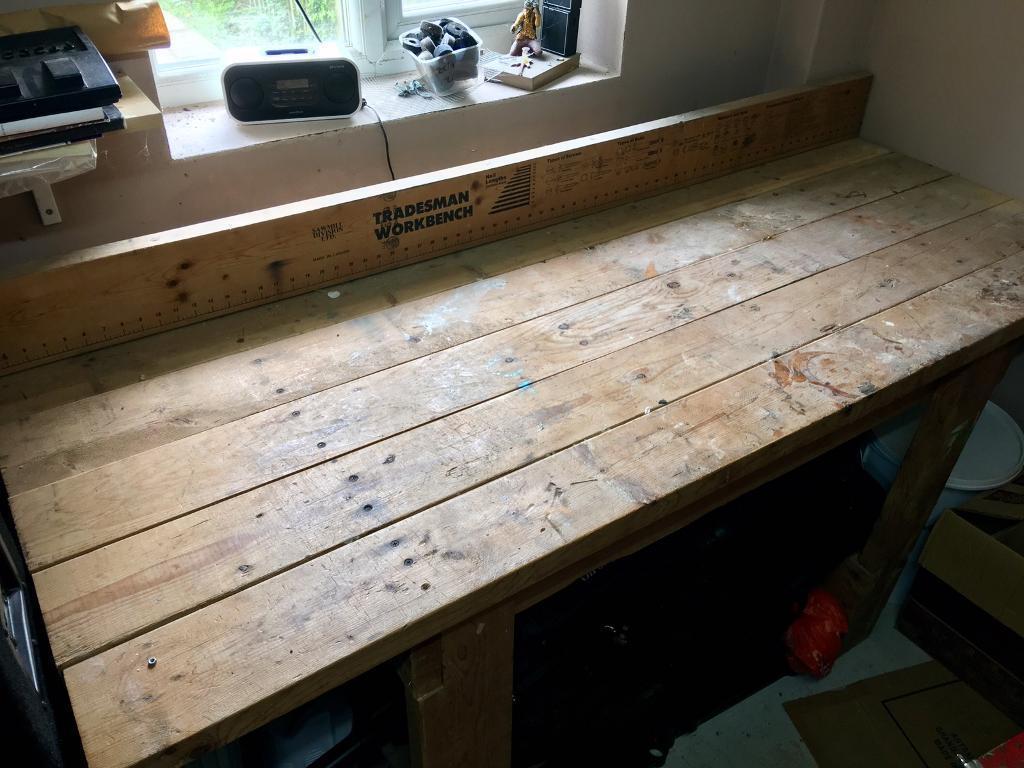 Tradesman Heavy Duty Wooden Workbench In Harrow London