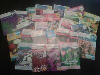 40 Packets Of Flower Seeds, Dozens Of Different Varieties - ALL IN DATE
