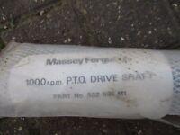 Unused Massey Ferguson PTO Drive Shaft Part No. 532897M1