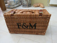 Genuine Fortnum and Mason Traditional Wicker Hamper Basket