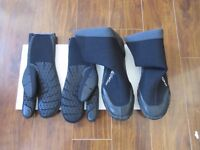 Wet-suit Gloves and Boots for sale