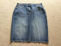 Ladies Next denim skirt size 12 Brand new