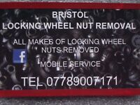 LOCKING WHEEL NUT REMOVAL BRISTOL BATH SOUTH WEST LOCKING WHEEL NUT REMOVER