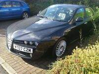 alfa romeo 159 lusso jtdm turbo diesel 2007 07 plate