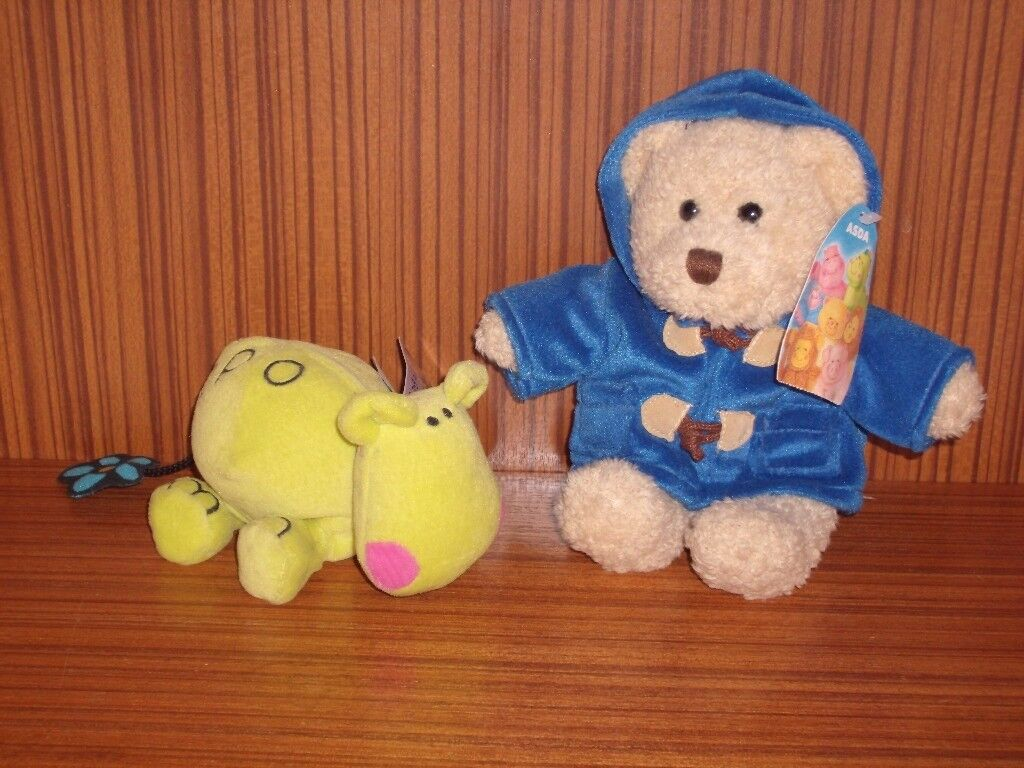 Hippo Beanies soft toy and Asda Paddy Bear soft toy