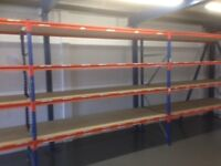 JOB LOT industrial long span shelving 100 bays available( pallet racking , storage )