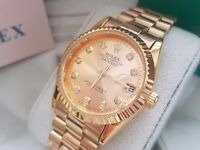 New Swiss Rolex Date Just Gold for sale!