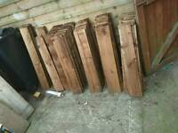 Feather edge fencing boards planks pales