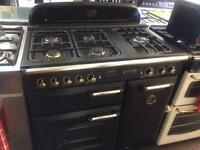 Black leisure 90cm five burners gas LPG cooker grill & oven with guarantee