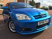 *LIMITED EDITION-*STRIKING BLUE*12 MTHS WARRANTY*2006(56)TOYOTA COROLLA 1.6 VVTI SR 5DR HATCH*