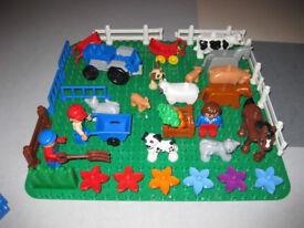 Lego Duplo - Farm Tractor Loader, Quads, Train & Track, Vehicles, Big Box of Bricks, Animals, People