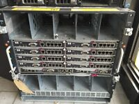 HP SERVER MODEL :HSTNS-1024 COMES WITH 16 BLADES WITH 2 HARD DRIVES IN EACH ONE OF 72GB
