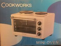Cook works mini oven with two hobs for sale
