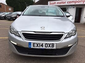 PEUGEOT 308 1.6 HDi Active 5dr (silver) 2014