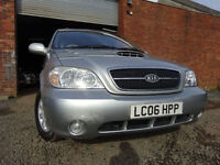 06 KIA SEDONA 2.9 DIESEL SE **7 SEATER**,MOT FEB 018,2 OWNERS,2 KEYS,PART HISTORY,VERY LOW MILEAGE