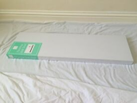 A white floating wall shelf++80x 23.5x 3.5cm++£5 Also wooden available