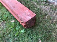 "6"" x 6"" x 6' Wooden post"