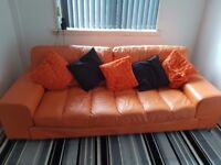 Sofa ,chair & footrest (leather)