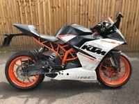 KTM RC 390 65 reg 2015 9400miles