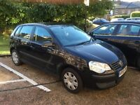 VW POLO, Black, 1.2 L manual **Low Mileage** PRICE REDUCED
