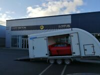 Covered Car Trailer Hire. Top of the range Woodford RL6000. From £120!
