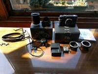 Fuji XE-1 with Fujinon XC16-50mm 3.5-5.6 w adapters