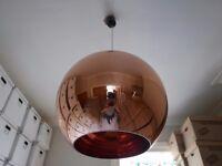 ORIGINAL TOM DIXON COPPER BRONZE CEILING LARGE PENDANT LAMP SHADE