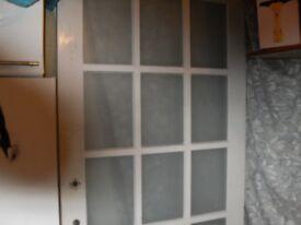 15 pane wooden door.