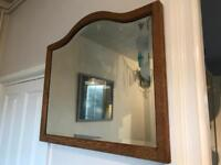 Stunning solid oak mirror with arch