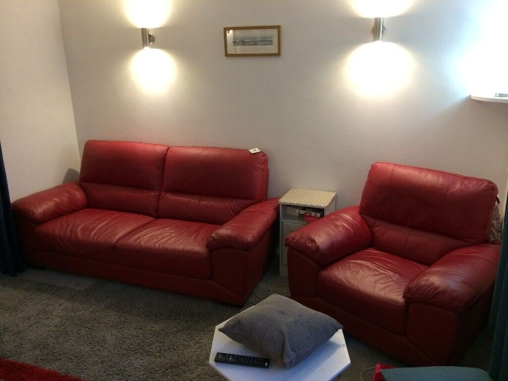 Harveys Vixon 3 Seater Leather Sofa Amp Armchair In Stroud