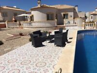 for rent villa with private pool in alicante area, Spain