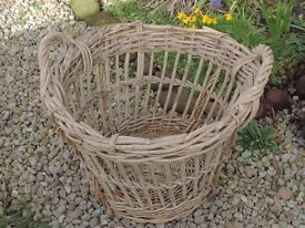 Old Willow Log Basket