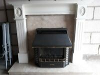 Lovely fireplace, fire surround with marble inset