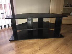 Black Large Wood TV Unit